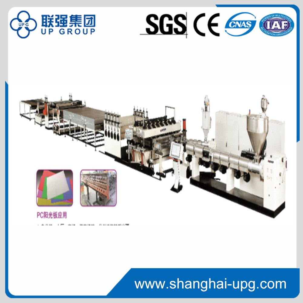 PC/PP/PE Hollow Cross Section Plate Extrusion Line